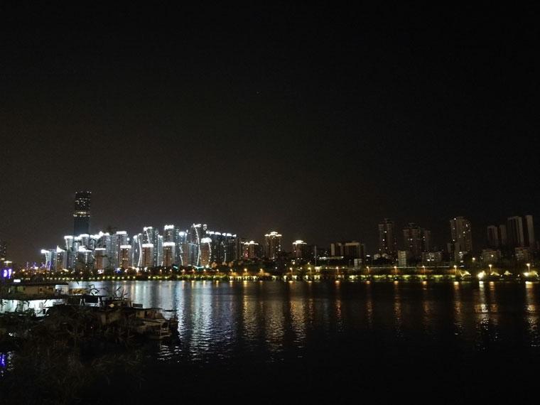 美丽柳州 江边夜景