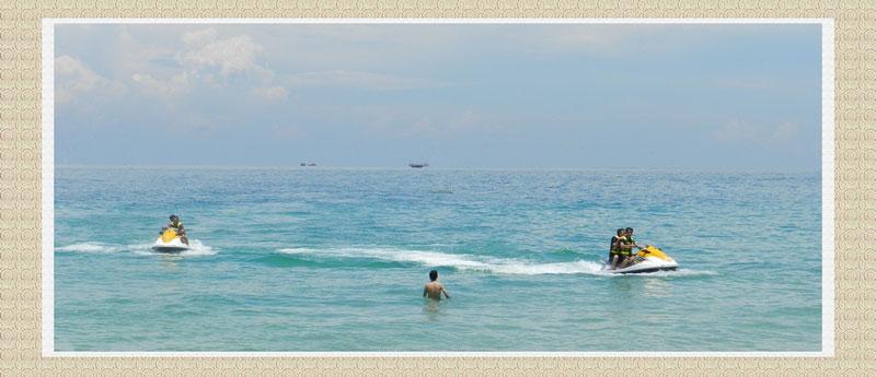 涠洲岛的海边